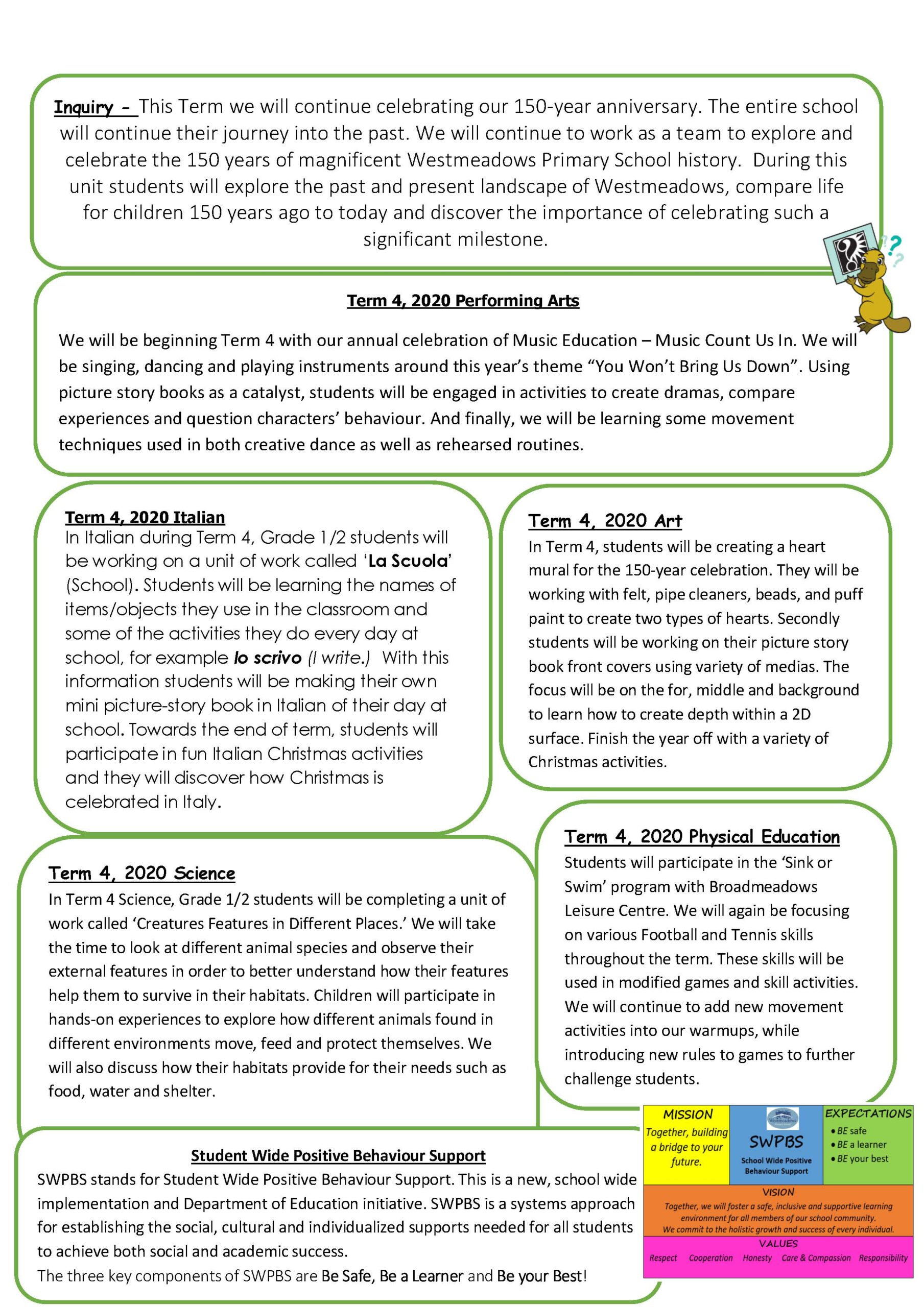 Grade 2 Term 4, 2020 Newsletter